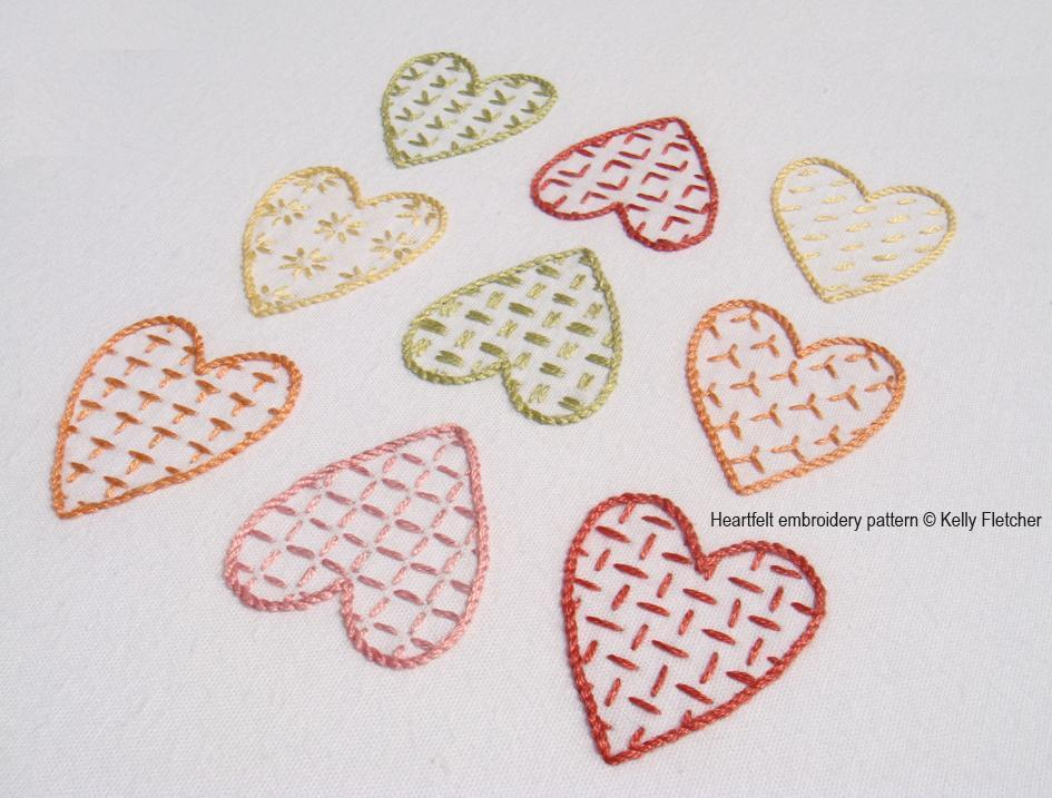 Heartfelt Hand Embroidery Pattern on Craftsy.com