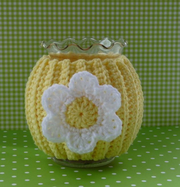 Daisy jar cozy: Bluprint Member Pattern