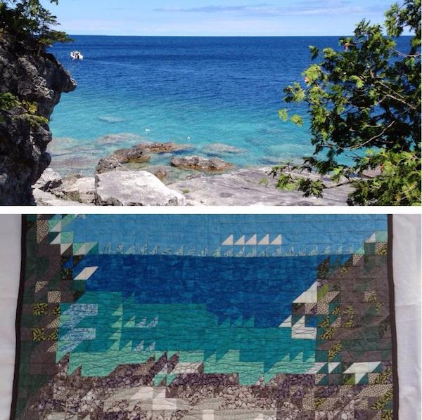 Picture and Picture Quilt of Georgian Bay