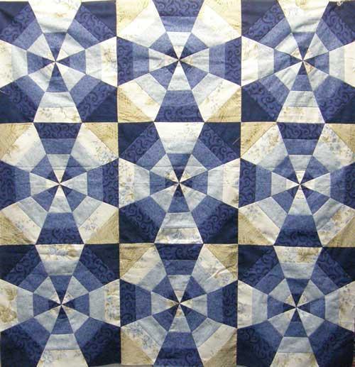 Blue Kaleidoscope Quilt Pattern