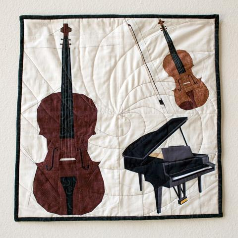 Paper Pieced Musical Instrument Quilt: Craftsy.com Pattern