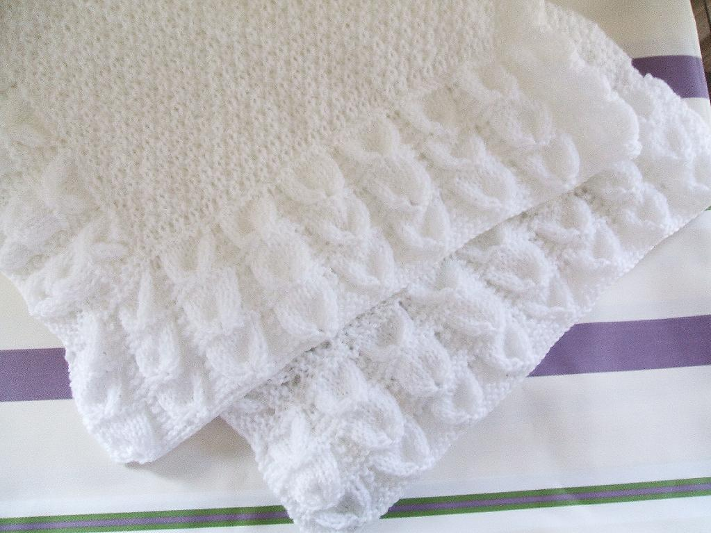 Traditional classic knit baby blanket