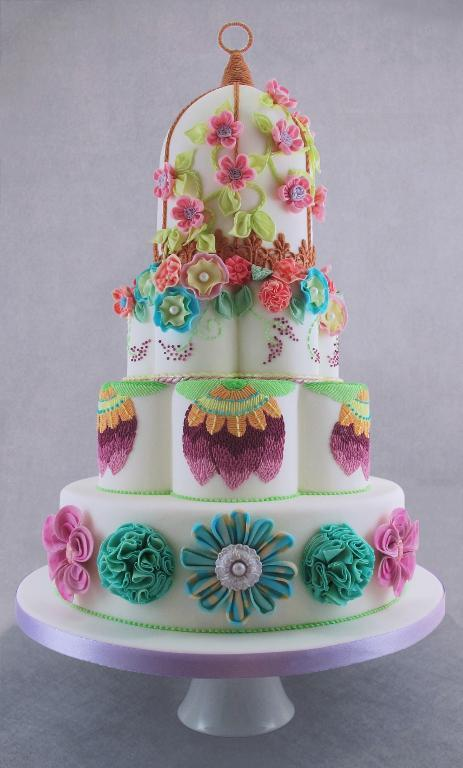 Rollded Fondant Flower Cake on Bluprint.com