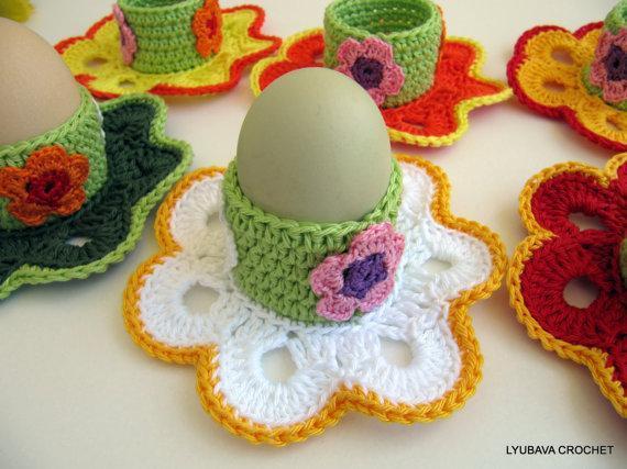 Crochet egg cozy