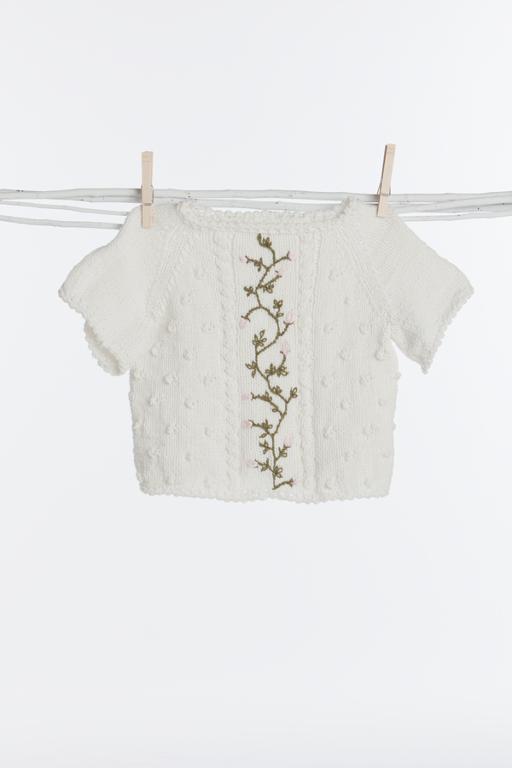 Sweet knit rosebud sweater