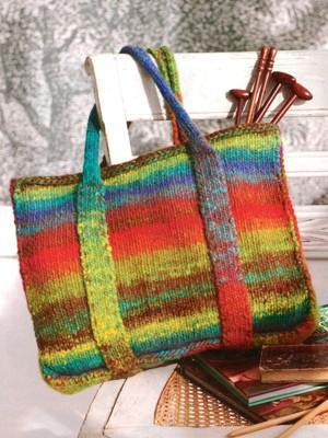 Noro felted tote - Pattern Available on Craftsy.com