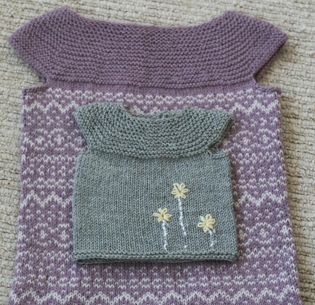 Knitted little pearl vest