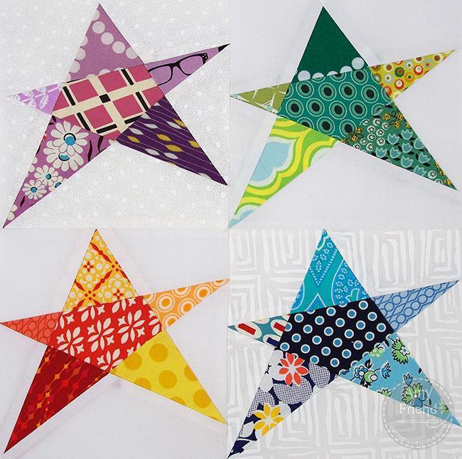 Confetti Star Block - pattern available on Bluprint.com