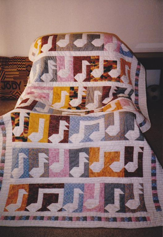 Music Notes Quilt - Craftsy Member Quilt