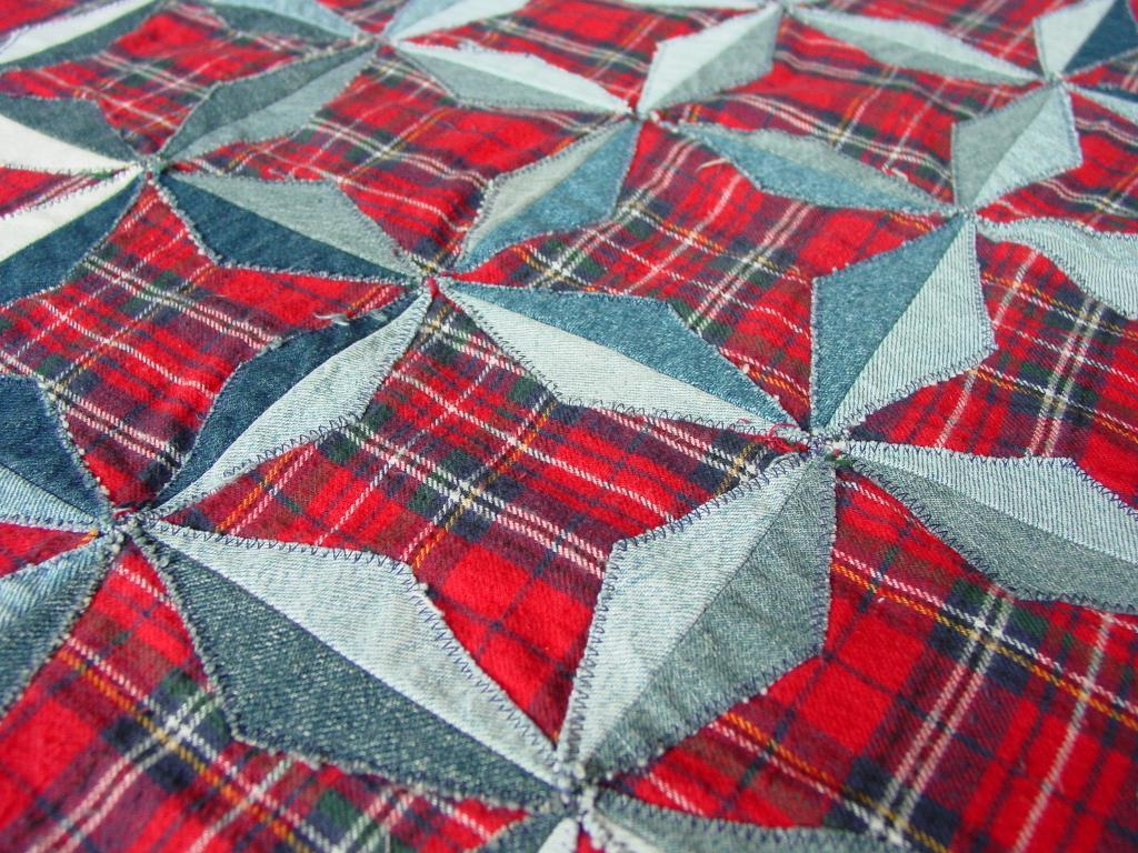Denim Stars Quilt: Craftsy Member Pattern