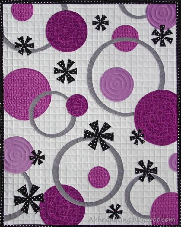 Radiant Orchid Rings and Circles Quilt Pattern