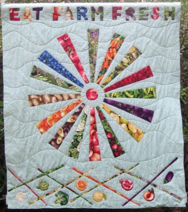 Eat Farm Fresh - Fusible Appliqué Quilt