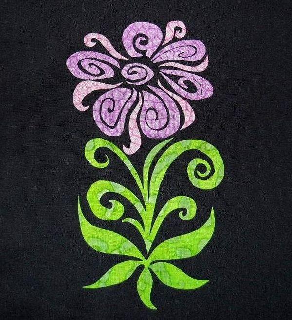 Groovy Flower Appliqué Quilt Block Pattern