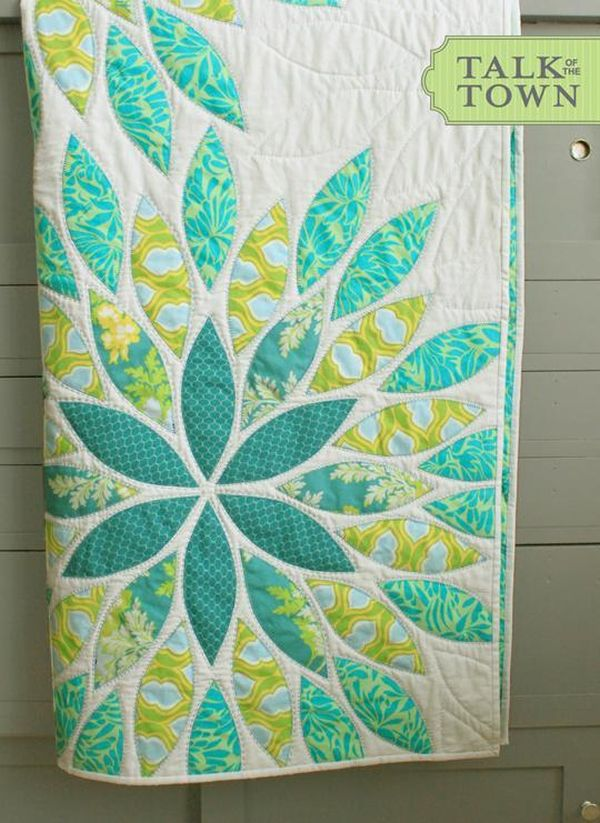 Sea Glass Baby Quilt with Fusible Applique