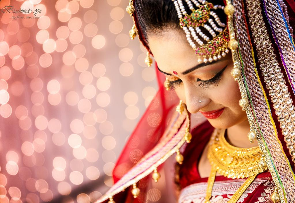 Bride in Traditional Indian Wedding Garment