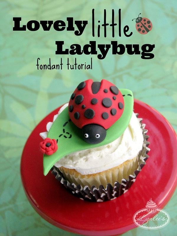 Title Image: How to Make a Fondant Ladybug - Tutorial
