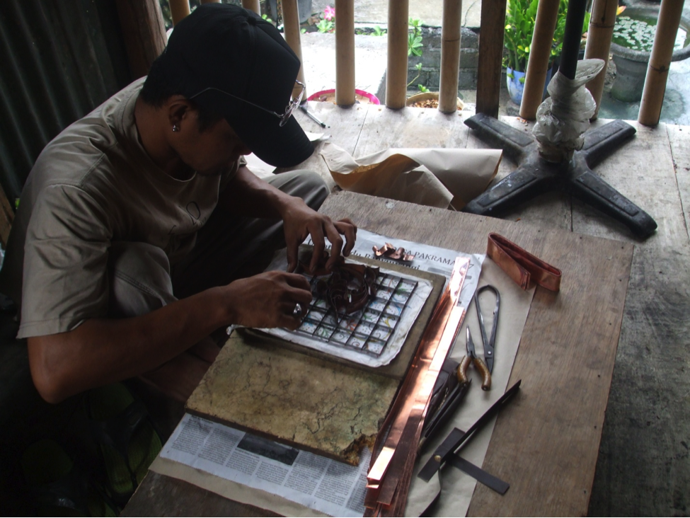 Making Stamp for Batik Design