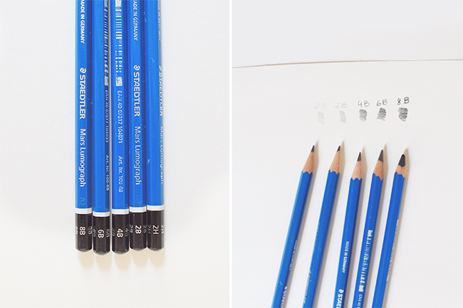types of drawing pencils