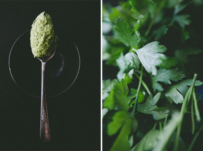 Taking Photos of Pesto- Food Styling