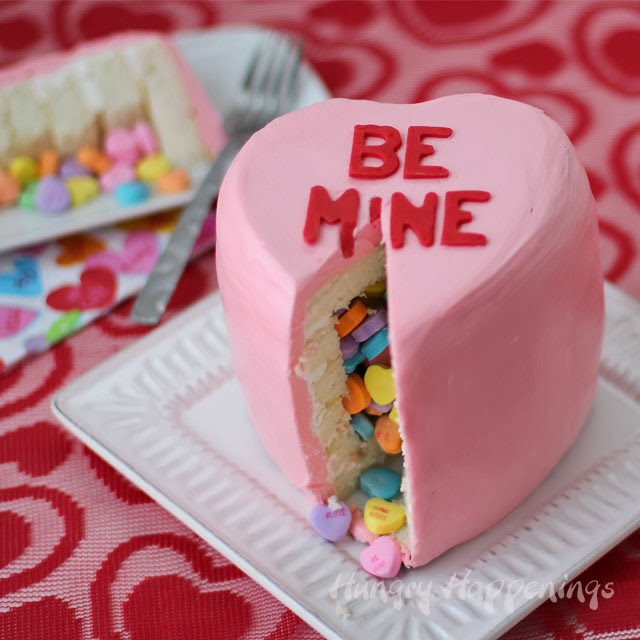 Candy Hearts Surprise Inside Cake