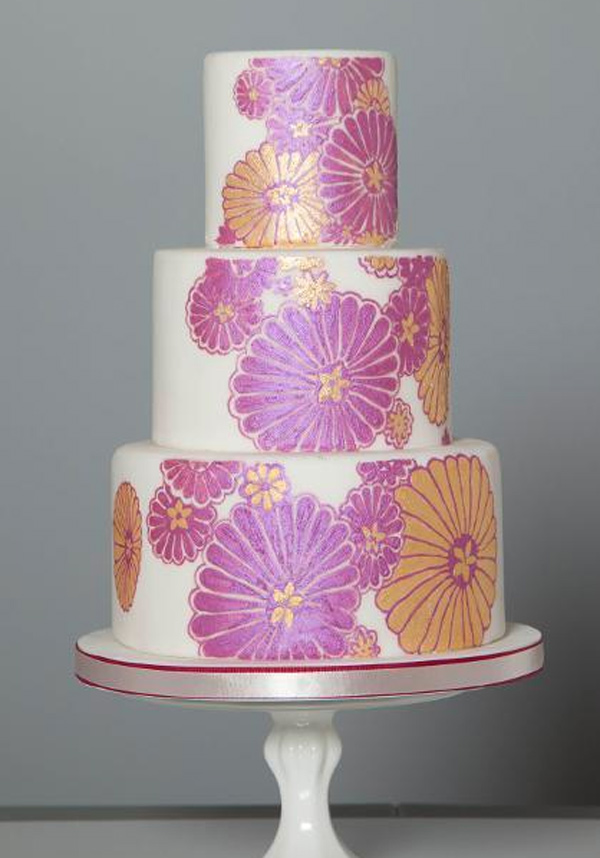 Vintage Floral Inspired Painted Cake