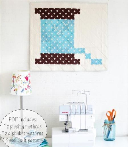Quilted Cross-Stitch Quilt Pattern