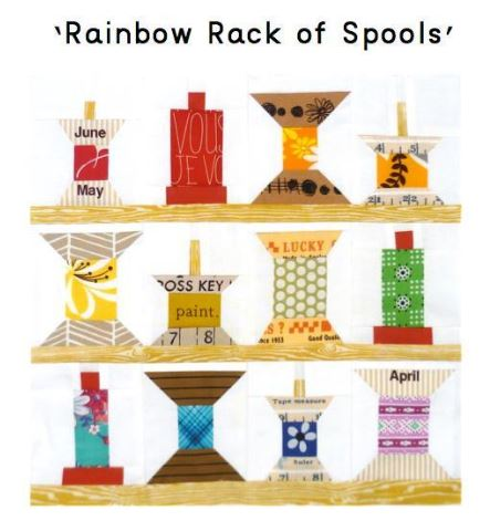 Rainbow Rack of Spools