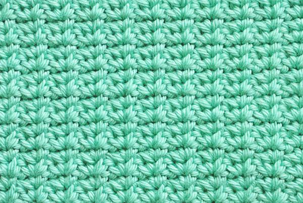 Crochet Spider stitch closeup