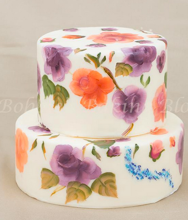 Floral Painted Cake - Bluprint Member Project
