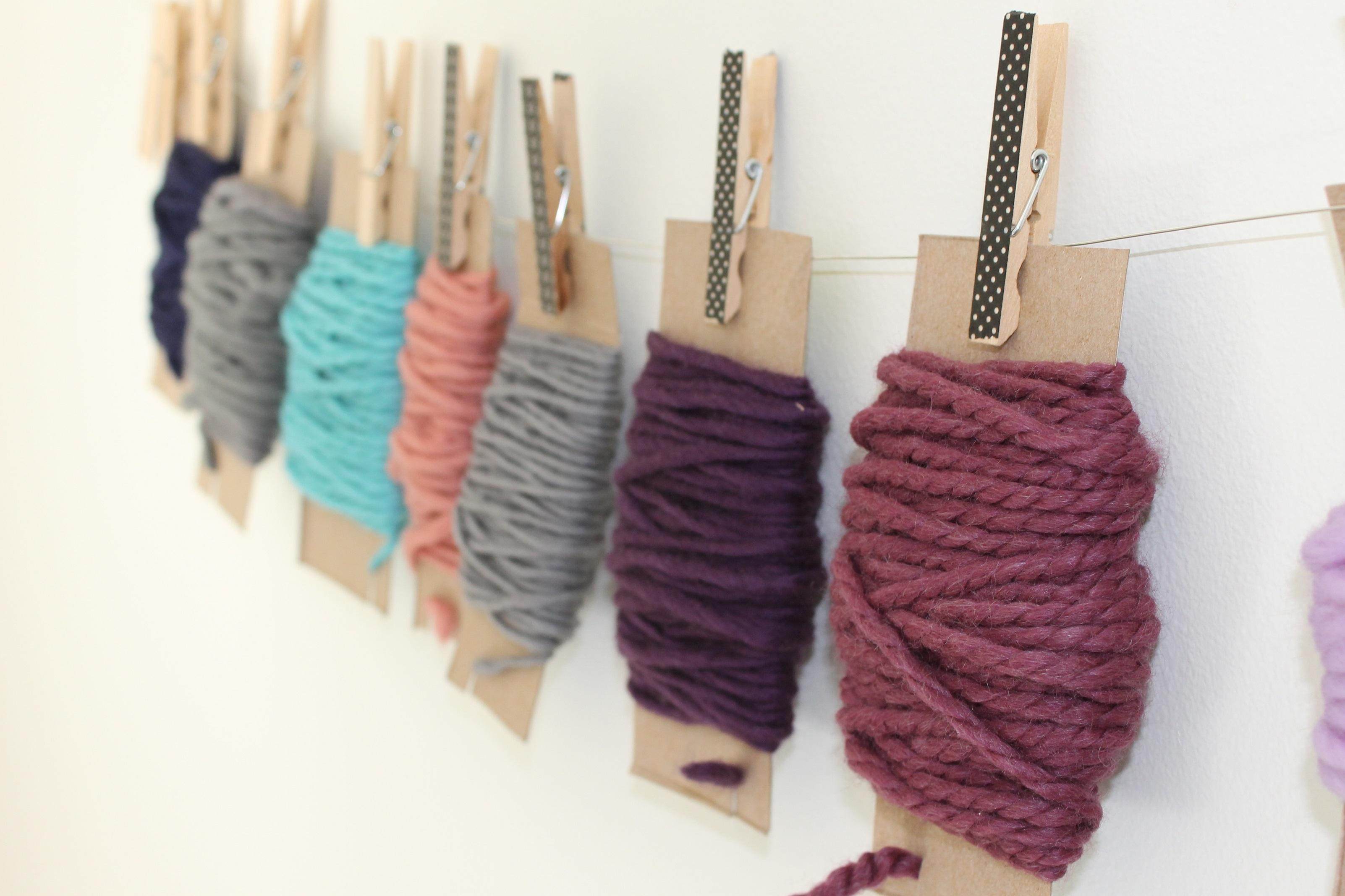 Yarn scrap organizer