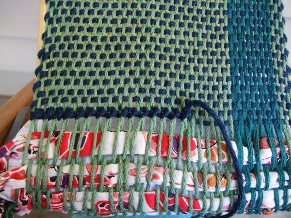 incomplete row of hem stitching
