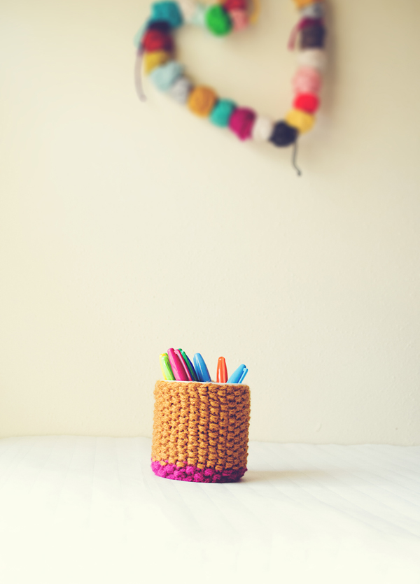 How to knit a cup cozy