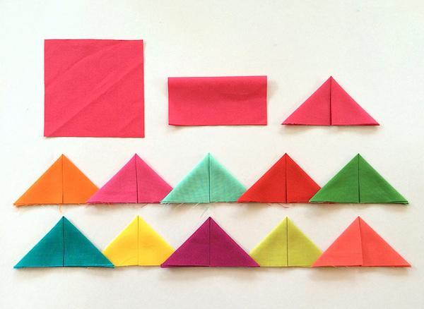 Prairie point folding demonstration