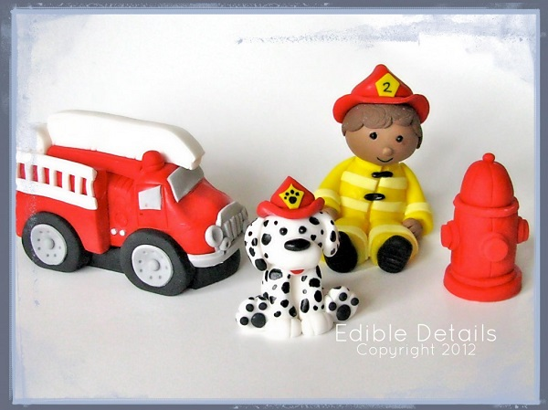 Firefighter Cake Toppers