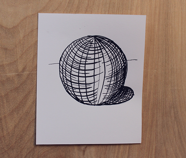 cross contour ink technique