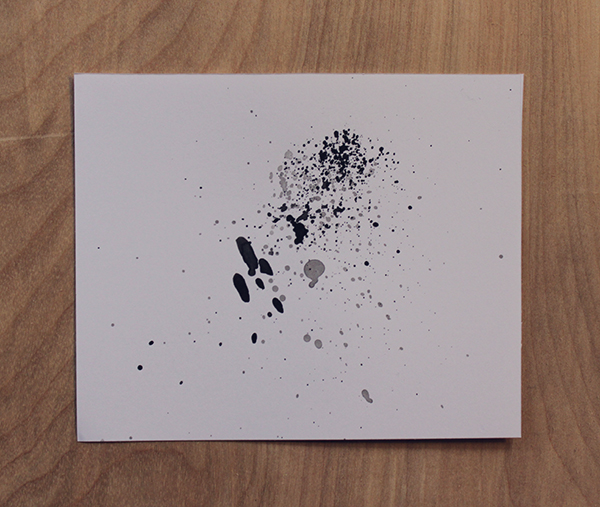 splatter ink technique