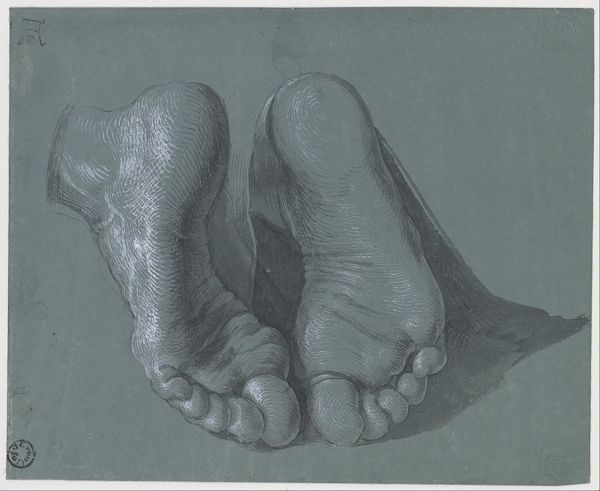 Study drawing of two feet