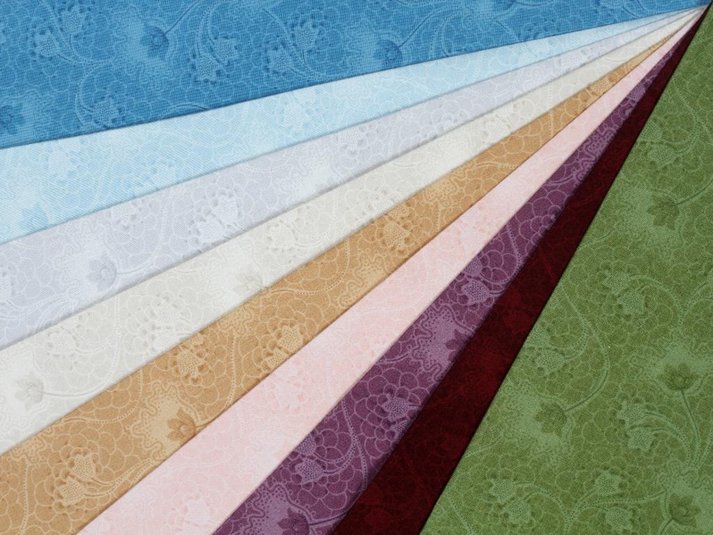 Array of Botanical Print Quilting Fabric