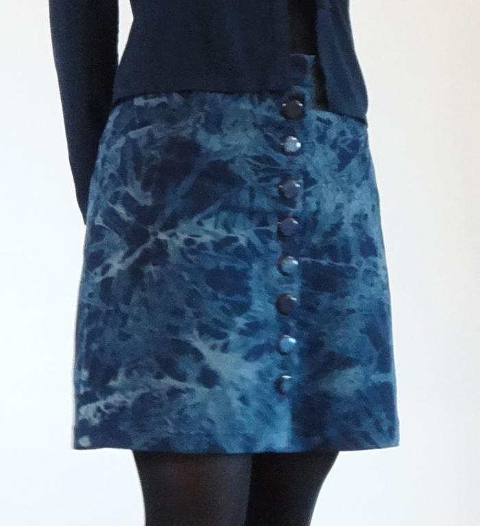 A-Line Skirt With Button Front Placket - Bluprint.com