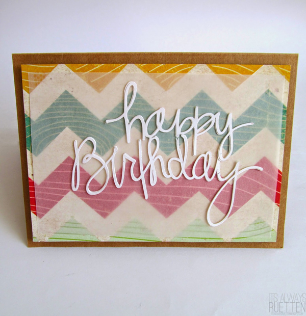 Happy Birthday DIY card