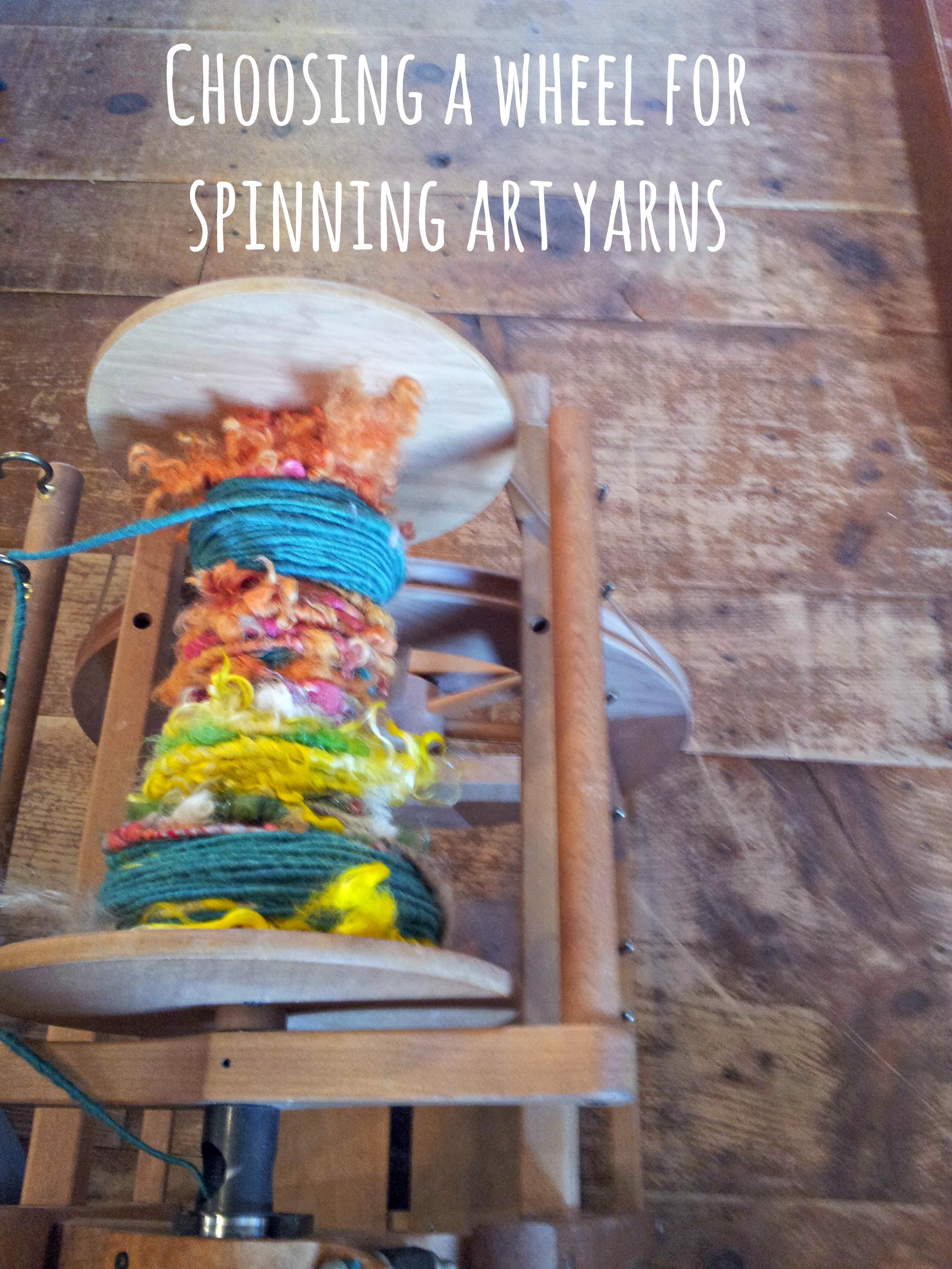 Title Image: Choosing a Wheel for Spinning Art Yarn