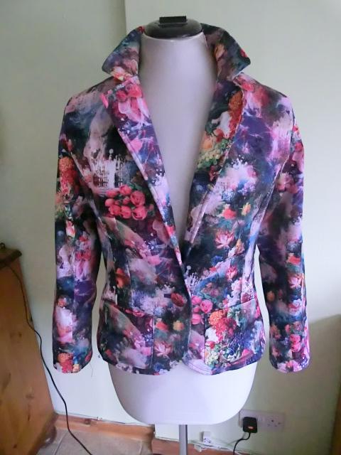 A classic blazer in a fun modern printed fabric