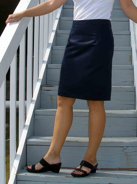 Custom Fit Navy Pencil Skirt