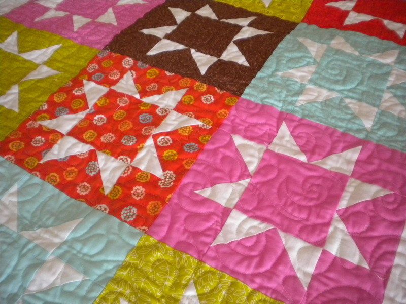 Bright and fun quilt, pieced precisely!