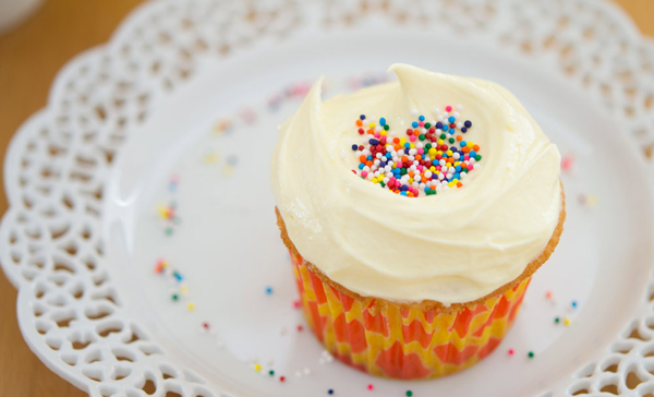 French Buttercream Almond Cupcake