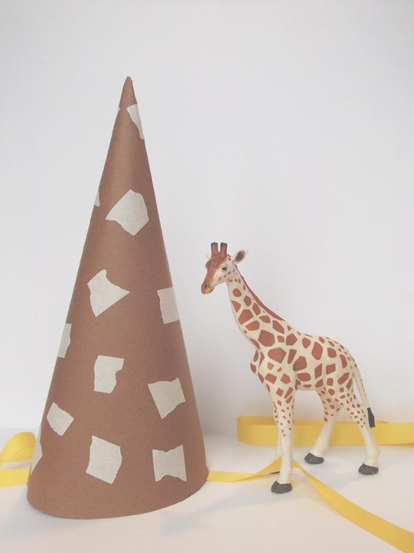 DIY Giraffe Party Hat