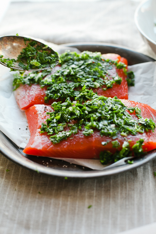 Fish Seasoned with Fresh Herbs