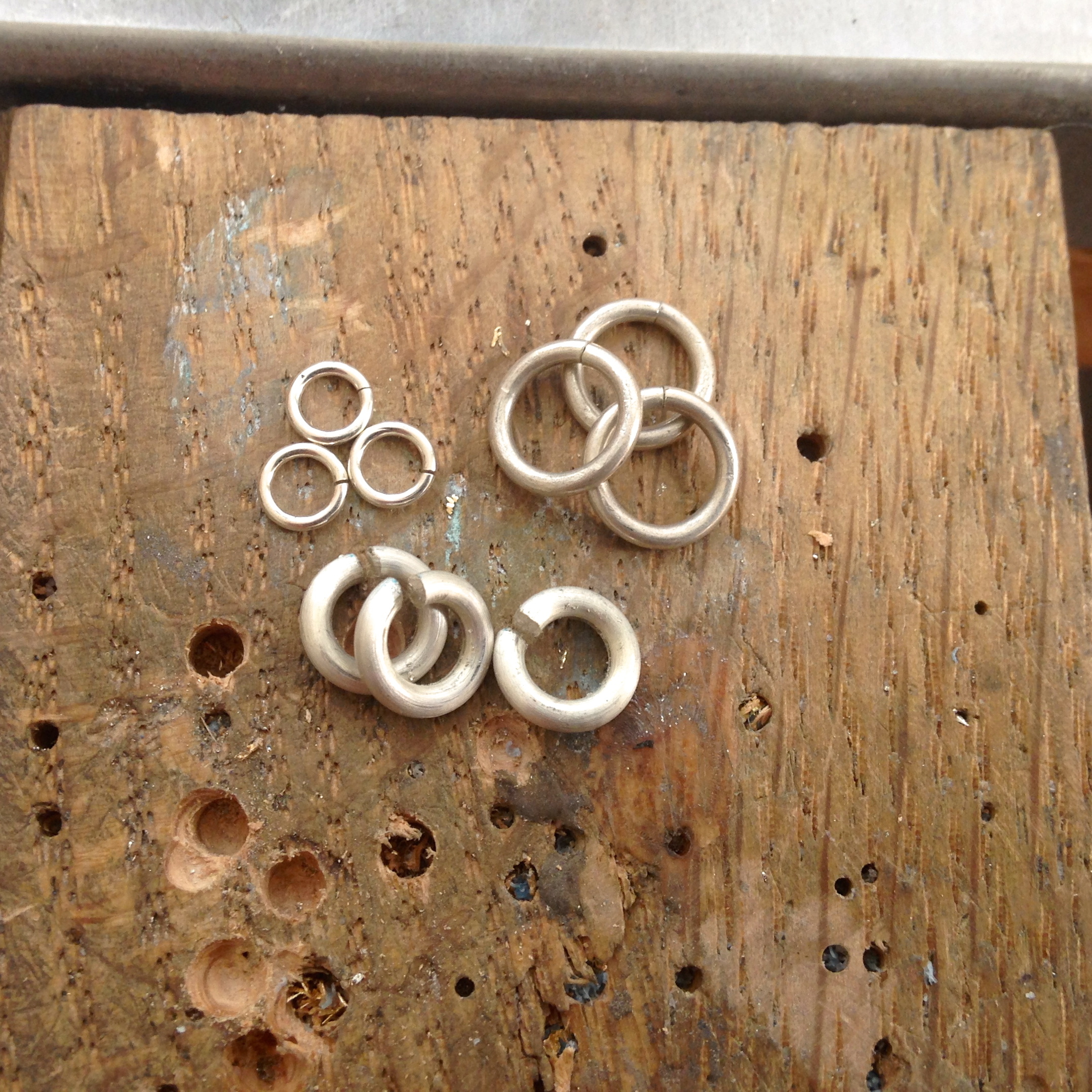 Three Sizes of Wire Jump Rings