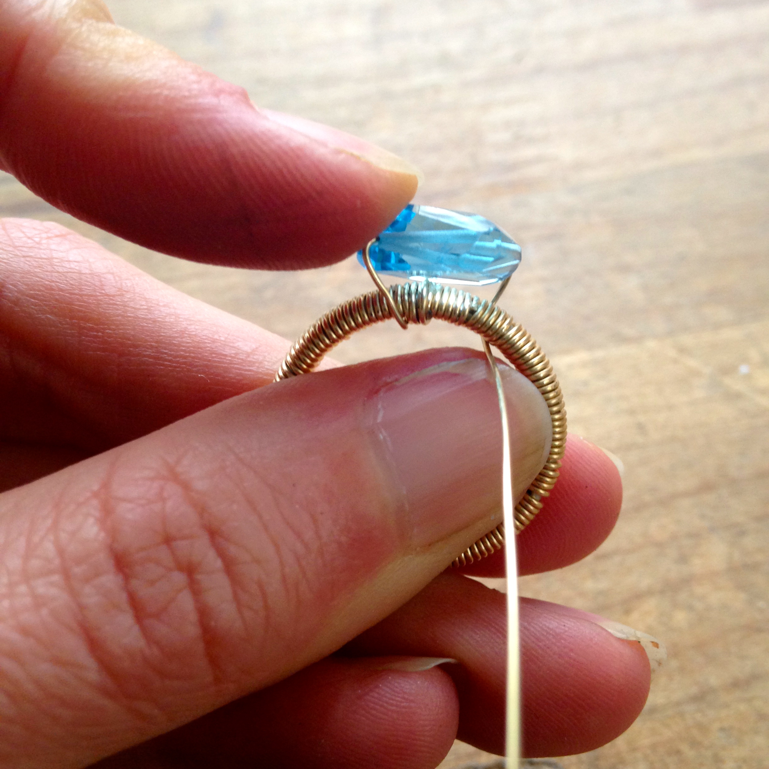 Adding a Stone to a Wire-Wrapped Ring