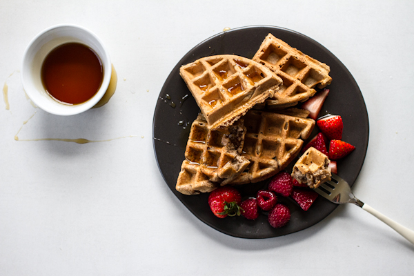 Gluten-Free Waffles With Berries
